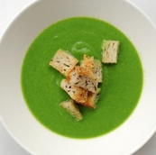 ブロッコリースープ&クルトン