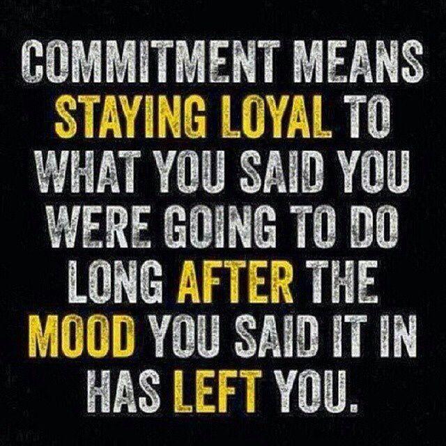 Yep, that's commitment!