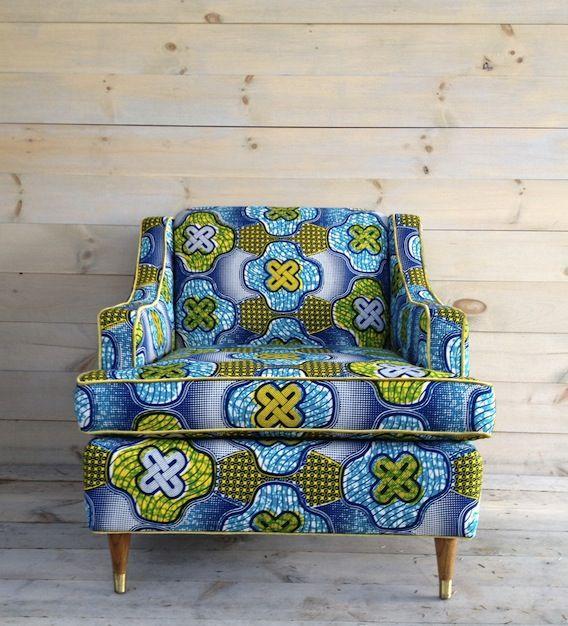 Een prachtige #batik #stoel voor in de woonkamer.