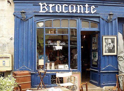 Brocante winkel in Frankrijk