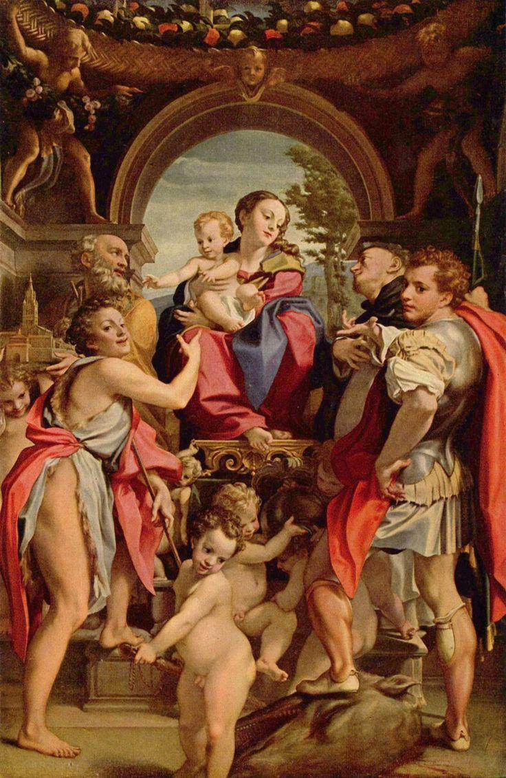 Madonna di San Giorgio.  1530. Gemäldegalerie Alte Meister Dresda. Commissionata per l'altare maggiore dell'oratorio della Confraternita di San Pietro Martire a Modena