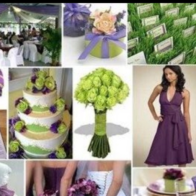 I Am A May 2011 Bride And My Colors Are Purple Green Cream Gold Would Love To See Pictures Of Your Cake BM Dresses Centerpieces Or Anything