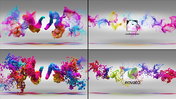 Colorful Particles Logo Reveal 2