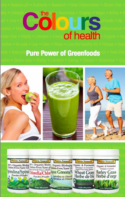 Pure Power of Greenfoods!  Spirulina. Chlorella. Aqua Greens. Wheat Grass. Barley Grass.