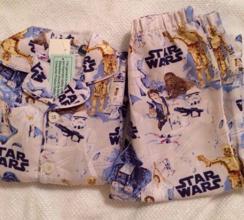Pottery Barn Kids Star Wars Flannel Pajamas Size 3t Nwt