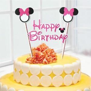 Guirlande décoration de gâteau Anniversaire Minnie rose - Achat / Vente banderole - bannière - Soldes * Cdiscount