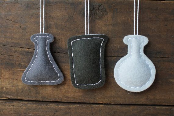 ON SALE Science Christmas Ornaments Chemistry di whatnomints