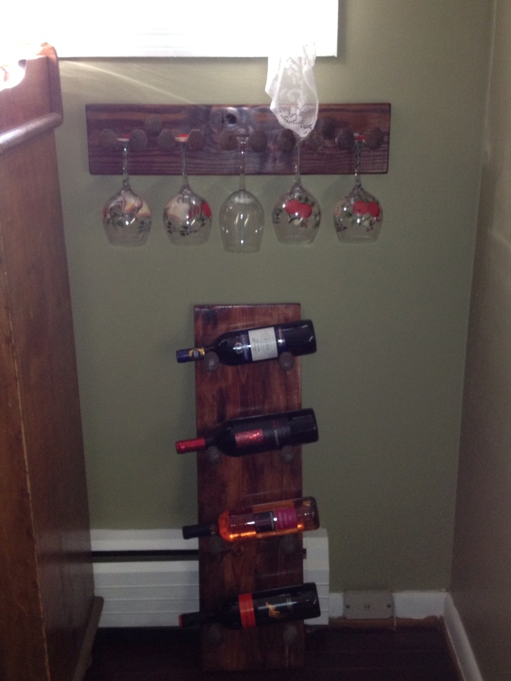 34 best images about bar ideas on pinterest sports decor for Diy wine storage ideas