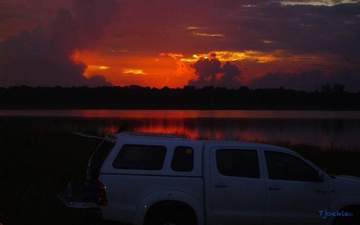 Fiery Sunset - Lake Sibaya - Sodwana Bay - South Africa