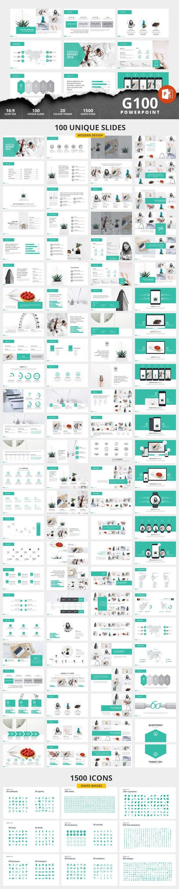 G100 Magazine Powerpoint Template. Annual Report Templates. $10.00