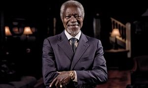 Kofi Annan: 'We must challenge climate-change sceptics who deny the facts'   I wonder how much he is getting paid to be a propagandist.