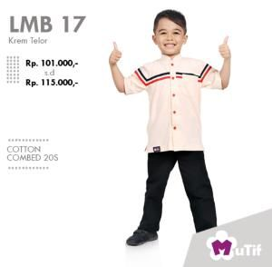Baju Anak Little Mutif Boy LMB-17 Krem Telor - Size 4