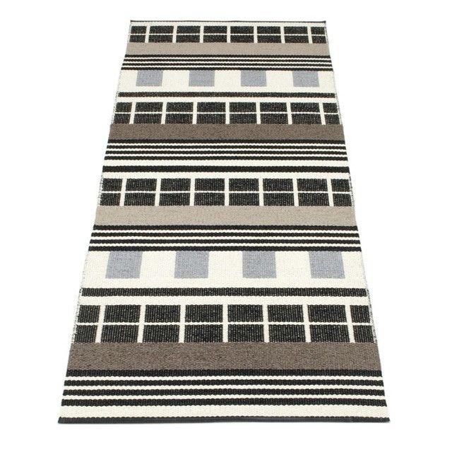 pappelina - James - Tapis 70 x 120 cm - noir et blanc
