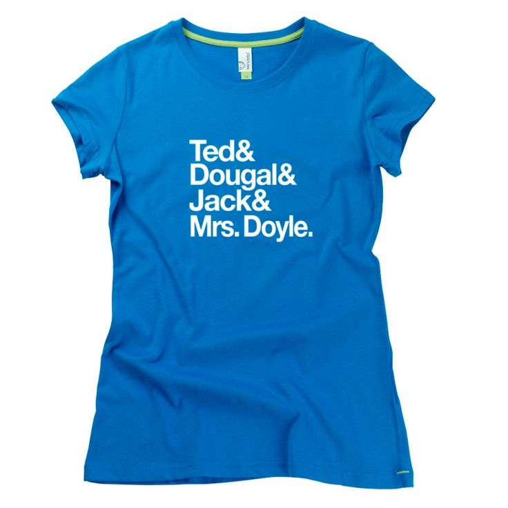 Craggy Island Fab Four adults T-Shirt from Teds Tees by HairyBaby, official supplier of Father Ted T-shirts