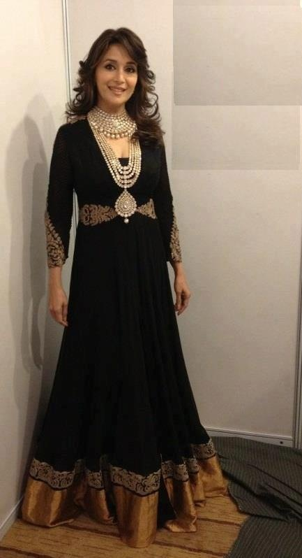 Madhuri in black