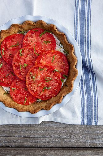 Fresh Tomato Ricotta Pie with Garlic Herb Crust | Annie's Eats by annieseats, via Flickr