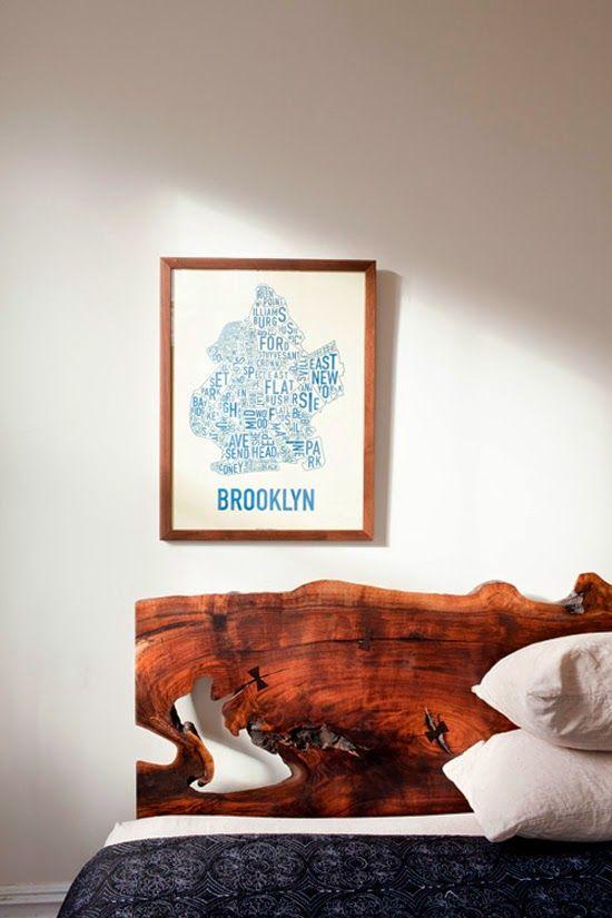 Letto, il fascino del legno grezzo
