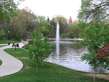 Mirror Lake on The Ohio State University campus