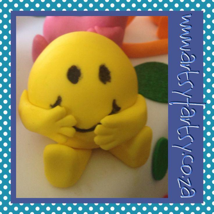 Mr Men, Mr Happy Sugar Figurine #mrmensugarfigurine #mrhappysugarfigurine