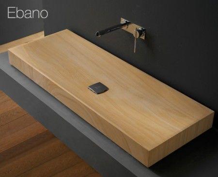 Une vasque en bois ! Contraste idéal entre Design et Nature