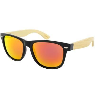 """Ξύλινα Γυαλιά Ηλίου Polarized Wayfarer """"Tropical""""-ORANGE-e-chap"""