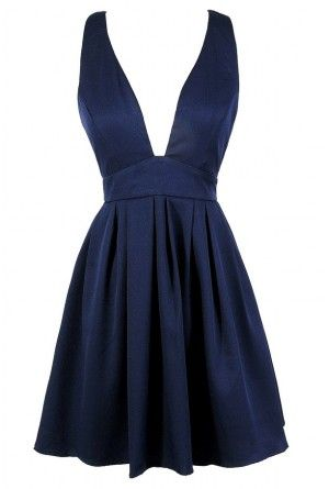 Cute Navy Dress, Navy Party Dress, Navy Cocktail Dress