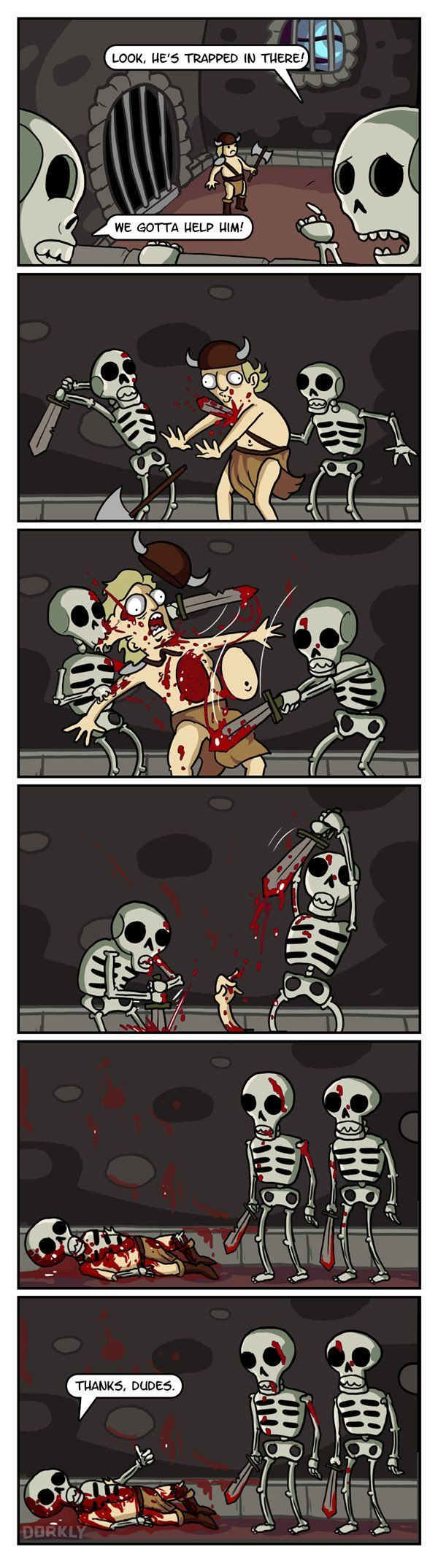 """Video Games from the Skeletons' Point of View"" #dorkly #geek #videogames"