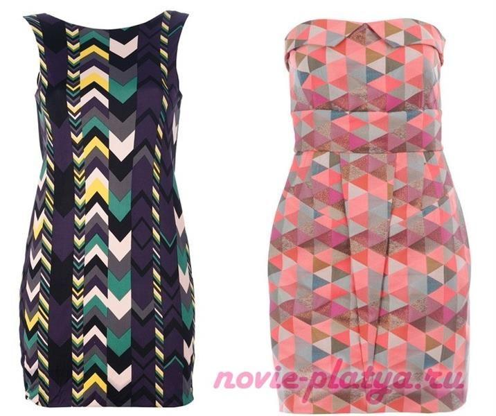 Платье в геометрические принты