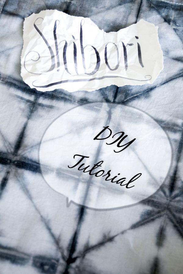Shibori-Tutorial  ,  DIY Textilien färben, Batik, Muster färben,