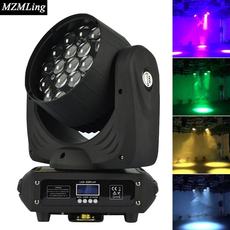 19*12 w led rgbw mencuci/zoom cahaya 16 saluran dmx512 bergerak ringan kepala lampu panggung profesional & dj/partai/tahap pencahayaan efek