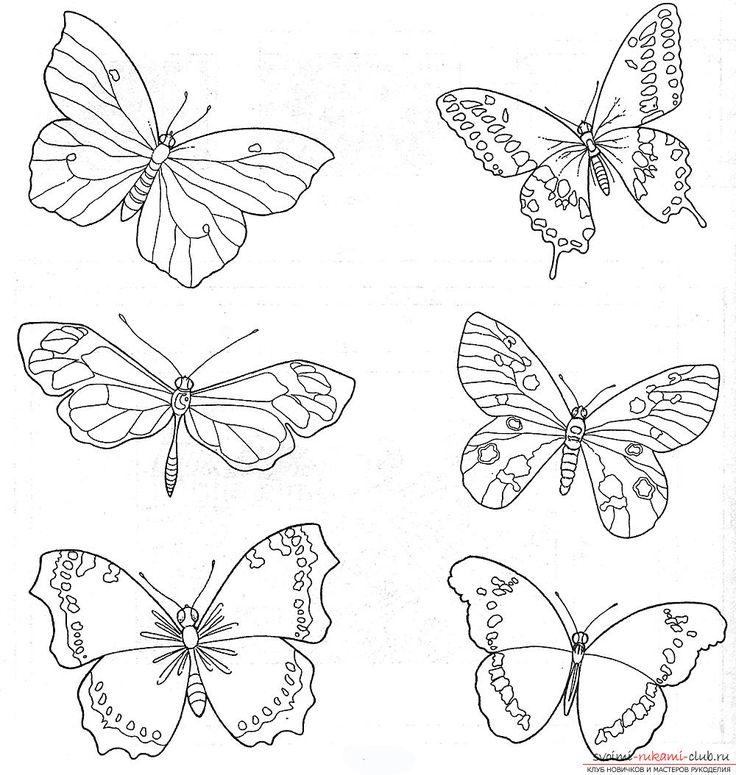 Схемы вышивки гладью бабочки. Фото №3