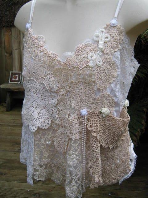 Vintage Kitty.. wedding cami.. creams ecru by sistersroseandruby