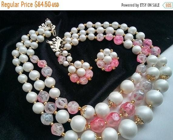 ON SALE Signed Hong Kong 3 Multi Strand Necklace Cluster Button Earring Set, High End Lucite Vintage Jewelry Demi Parure #jewelry #vintagejewelry #vintagejewellry #etsyshop #giftsforher #vintagegifts #etsygifts #vintagefinds #etsyvintage #PlsFollowthx #plsRePinthx #costumejewelry #vintagebling #fashion #vintagefashion #vintagejewels #tweegram #summer #instramhub #follow #bestoftheday #happy #followme #fun #smile #jewelryshopping #shopping #estate #estatefinds #estatejewelry #bestofetsy…