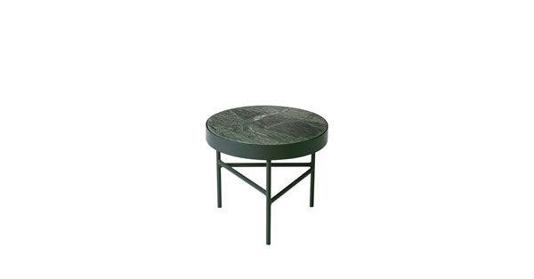 Marble bord - marmor grön, small, grönt stativ - Soffbord & småbord – Möbler från Svenssons i Lammhult