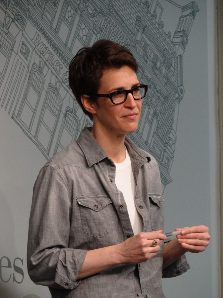 Rachel Maddow at the Barnes and Noble book signing in New York City