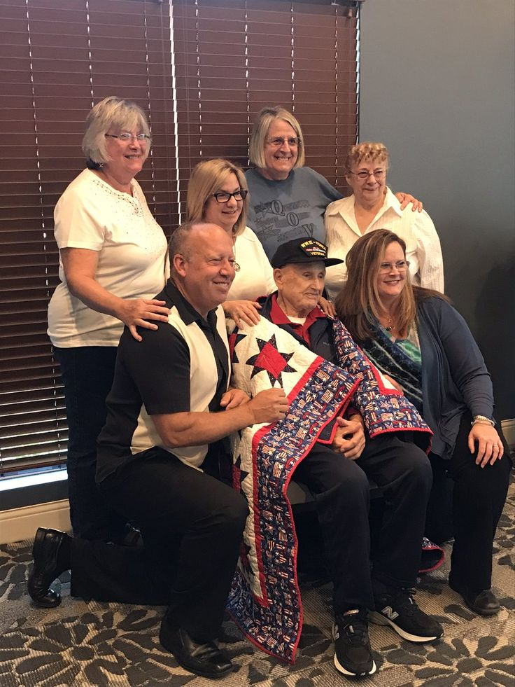 We Were Honored To Host Ladies From The Quilts Of Valor Foundation As They Awarded John A Quilt Of Valor For His Incr Memory Care Tuscan Garden Senior Living