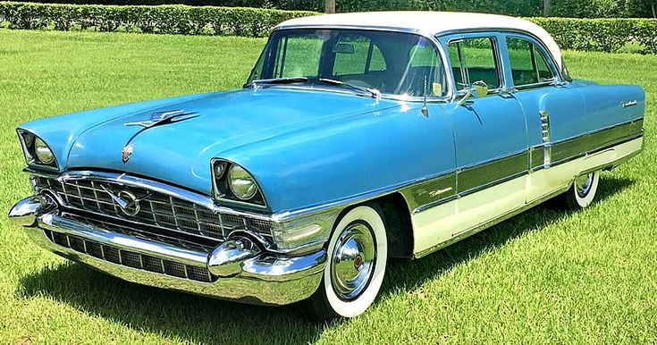 1956 Packard Patrician – Aegean Blue / Dover White – 32,000 actual miles