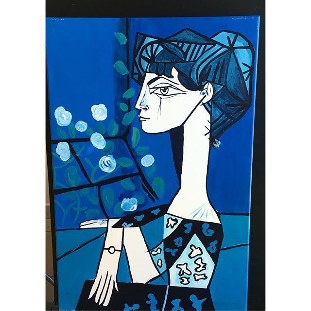 #blue #art #artist #artwork #artist #arts #artlife #artlover #atölye #draw #drawing #paint #painter #akrilik #acrylıc #istanbul #merilinatölyesi