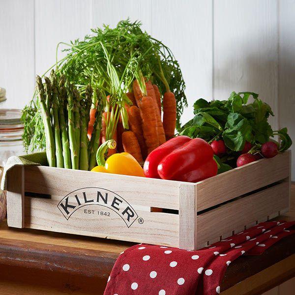 Kilner Wooden Crate   Storage Box, Vegetable Crate, Fruit Crate