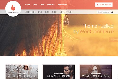 FireUp - A multipurpose theme creating eCommerce stores