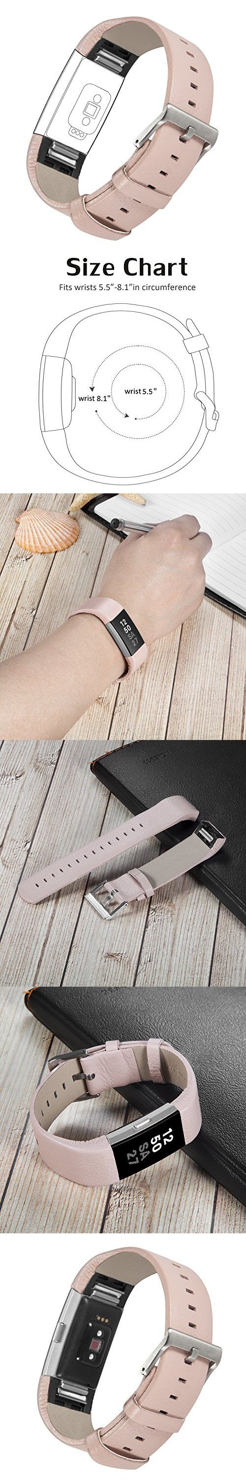 For Fitbit Charge 2, TreasureMax Leather Replacement Band for Fitbit Charge 2 Band / Charge 2 / Fitbit 2 / Charge 2 Fitbit / Fitbit Charge 2 Bands (No Tracker)