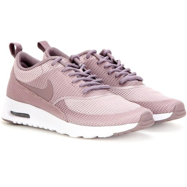 Nike Nike Air Max Thea Txt Sneakers ($130) ❤ liked on Polyvore featuring shoes, sneakers, purple, nike sneakers, nike, purple shoes, purple sneakers and nike footwear