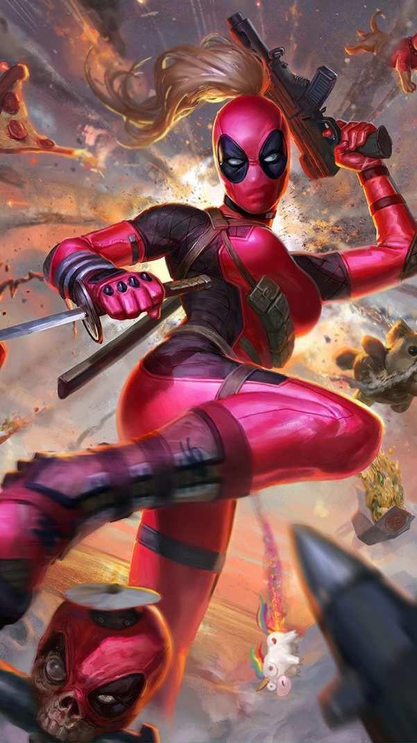 Limited Edition 1//6 LADY Deadpool Wanda Wilson figure Set complet USA en Stock