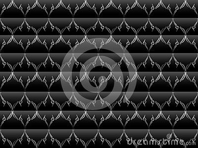 Art floral design blend of lines and dots of background color horizontal lines of black, gray, leaf / flower / plant design / ornament with gradation of white, gray, black