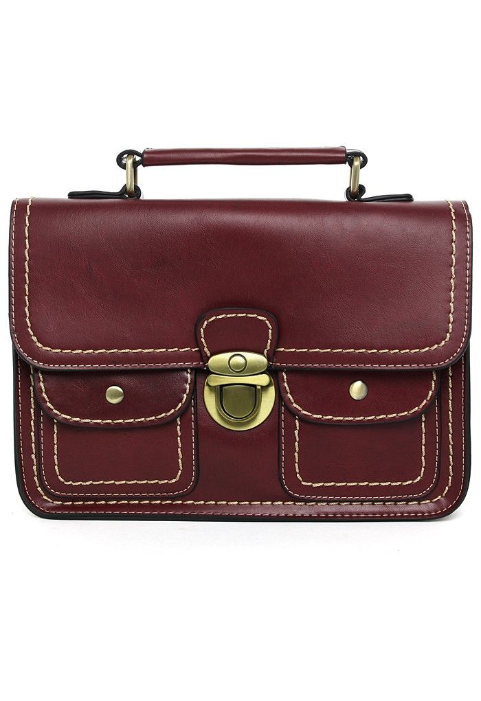 Wine Old School Satchel Bag