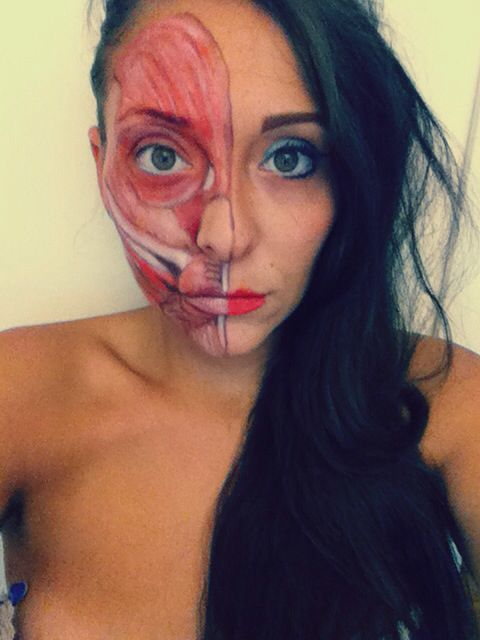 Facial muscles make up