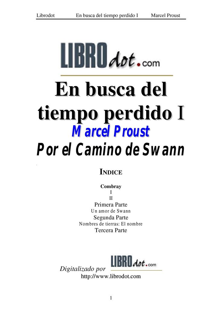1000 images about proust in spanish catalan on pinterest for Por el camino de swann