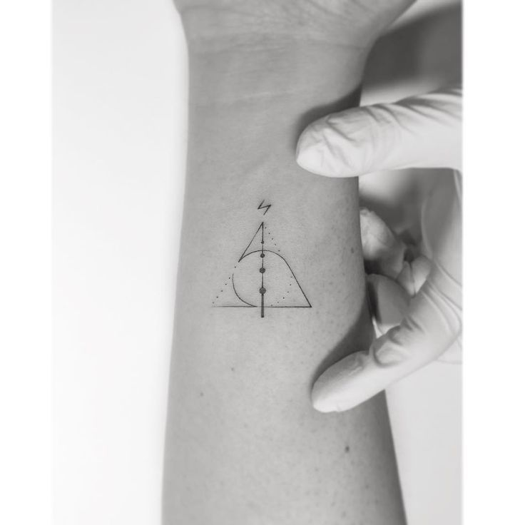 Minimalist Harry Potter tattoos; Small ink, inspired by JK Rowling books