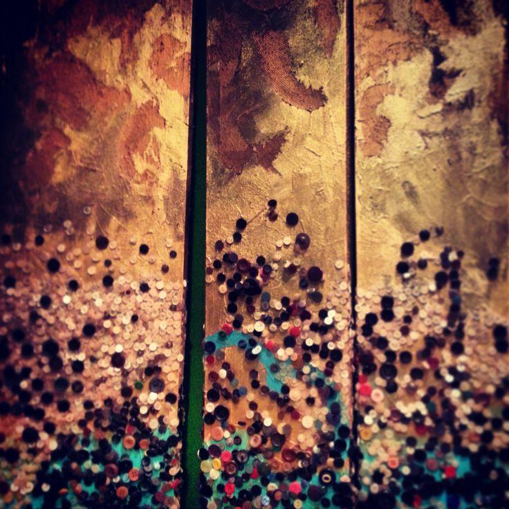 buttons, acrylic on canvas 190X100 Kodi 2012