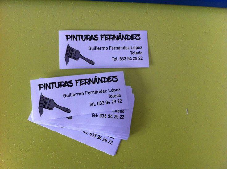 "Tarjeta papel blanco 80gr. para buzoneo ""Pinturas Fernández"""